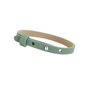 Cuoio armband dark sea mist green