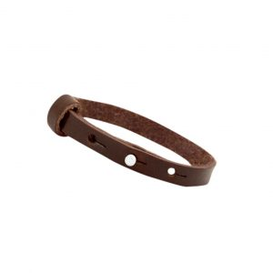 cuoio armband dark brown