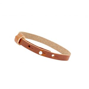 cuoio armband dark cognac brown