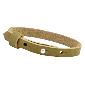 cuoio armband light olive green