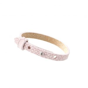 cuoio armband light vintage rose