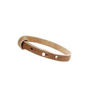 cuoio armband olive brown