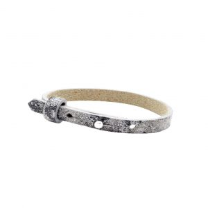 cuoio armband rock ridge grey panther